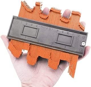 WoCoo Ruled Contour Duplication Gauge Plastic Contour Copy Duplicator Circular Frame Profile Gauge Tool 4 Inch/120 Mm(Orange)