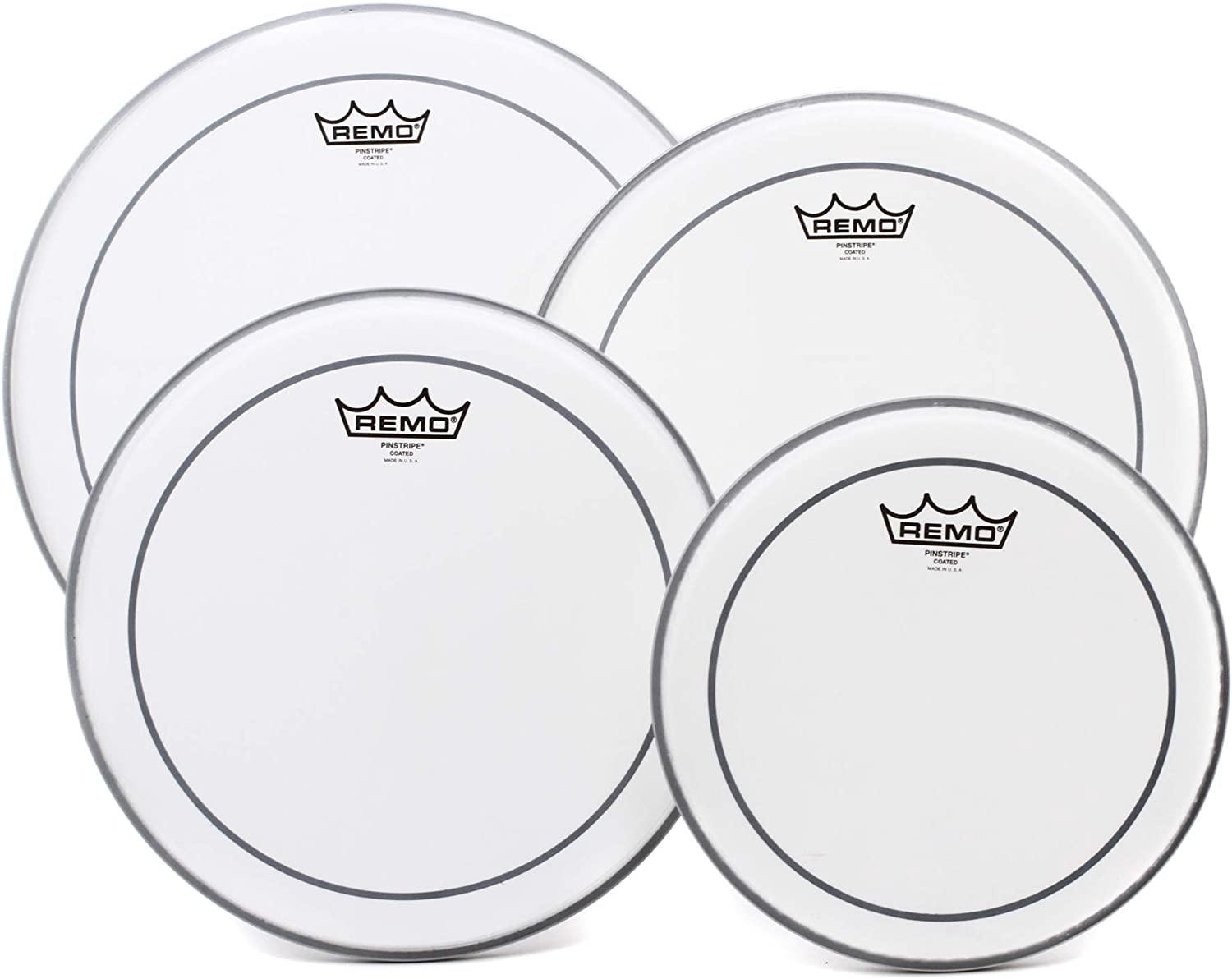 Remo Max 79% OFF Pinstripe 4-Piece Tom Pack Max 82% OFF - 14 10 Coated 12 Inches 16