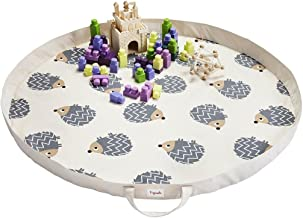 3 Sprouts Play Mat - Hedgehog, Grey