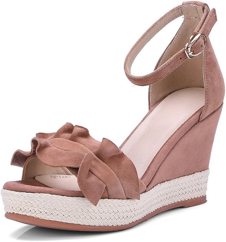 AN Womens Sandals Solid Firm-Ground Dress Urethane Sandals DIU00609