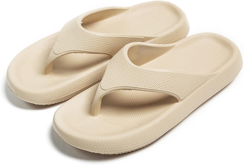 Unisex Platform Flip Flops Orthotic Arch Support Thong Sandals Yoga Mat Soft Cushion Summer Beach Slippers