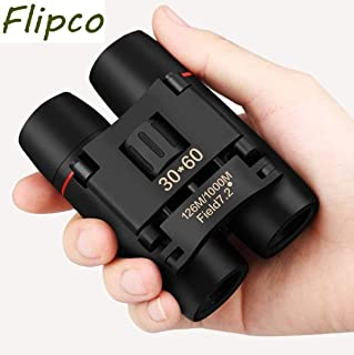 Flipco 30x60 Roof Prism Binoculars for Adults, HD Professional Binoculars for Bird Watching Travel Stargazing Hunting Concerts Sports