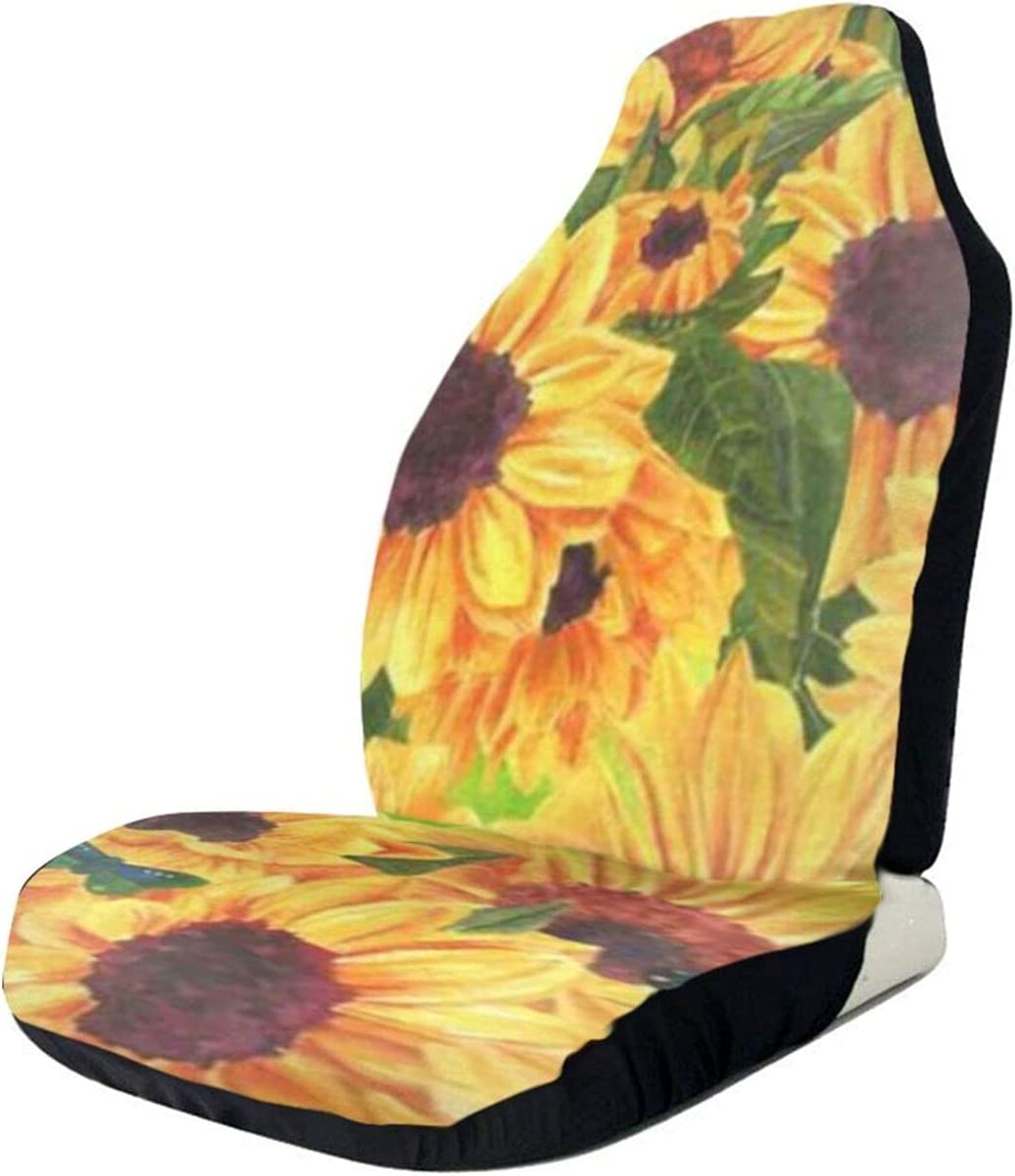 Waterproof Watercolor Flower 2021 autumn and winter new Quantity limited Sunflower Leaf Co Interior Seat Car