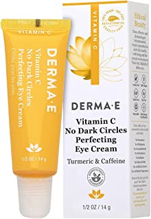 Derma E, Vitamin C, No Dark Circles Perfecting Eye Cream, 0.5 oz (14 g)