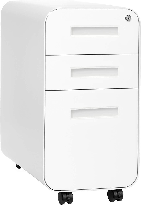 Stockpile Slim New York Mall Version Max 48% OFF 3-Drawer Mobile Commercia Cabinet File