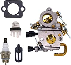 FitBest Carburetor with Primer Bulb Spark Plug for Zama C1Q-S118 Stihl TS410 TS420 Concrete Cut-off Saw 4238 120 0600