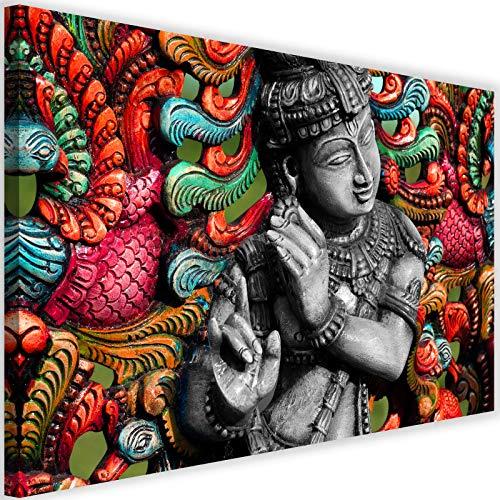 Cuadro en Lienzo Buda 60x40 cm Impresion en Calidad fotografica zen multicolor