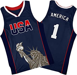 Custom America #1 Basketball Jersey Mesh Design for Veterans Day/Independence Day(XXS-6XL)