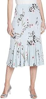 Amber Ladies Womens Full Godet Panelled Skirt Duck Egg Blue 18