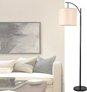 ORPERSIST Le Fer Lampadaire Dimmable LED avec TéLéCommande,Luminaire de Salon sur Pied,avec Tissu Abat-Jour,Lampe de Lectu...