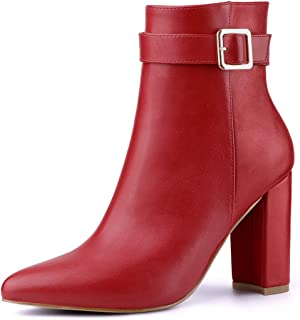 Best red block heel ankle boots Reviews