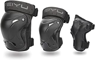 KING SHOWDEN Upgraded Adult/Child Knee Pads Elbow Pads Wrist Guards Set Protective Gear Sports Safety Pad for Roller Skatings Skateboarding Inline Scooter Riding BMX Bicycle Cycling Pack of 6