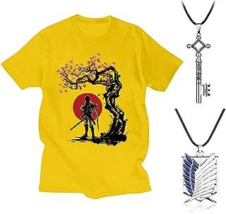 Attack On Titan T-Shirt Attack On Titan Camiseta Attack On Titan Ropa de Hombre de Manga Corta Attack On Titan para Fanáti...