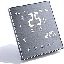 Qiumi Termostato Wifi, aire acondicionado inteligente controlador de temperatura, 4 tubos, funciona con Alexa Página princ...