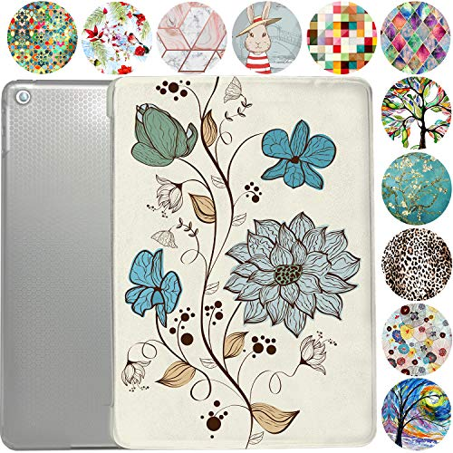 iPad PRO 10.5 Case 2017 / Air 3rd Generation 2019 Slim Smart Protective Cover with Soft TPU Clear Back & Viewing/Typing Stand for iPad PRO 10.5' / Air 3 Gen Auto Sleep/Wake - Watercolor Flowers