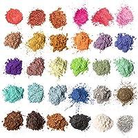 Mica-poeder 30 kleuren, MENNYO natuurlijke pigmenten Glitter epoxyharsverf voor zeep maken, badbom, kaars, cosmetische...
