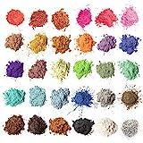 MENNYO Epoxidharz Farbe, Mica Pulver Glitter Seifenfarbe Set Pigment 30 Farben (5g, insgesamt 150 g)...