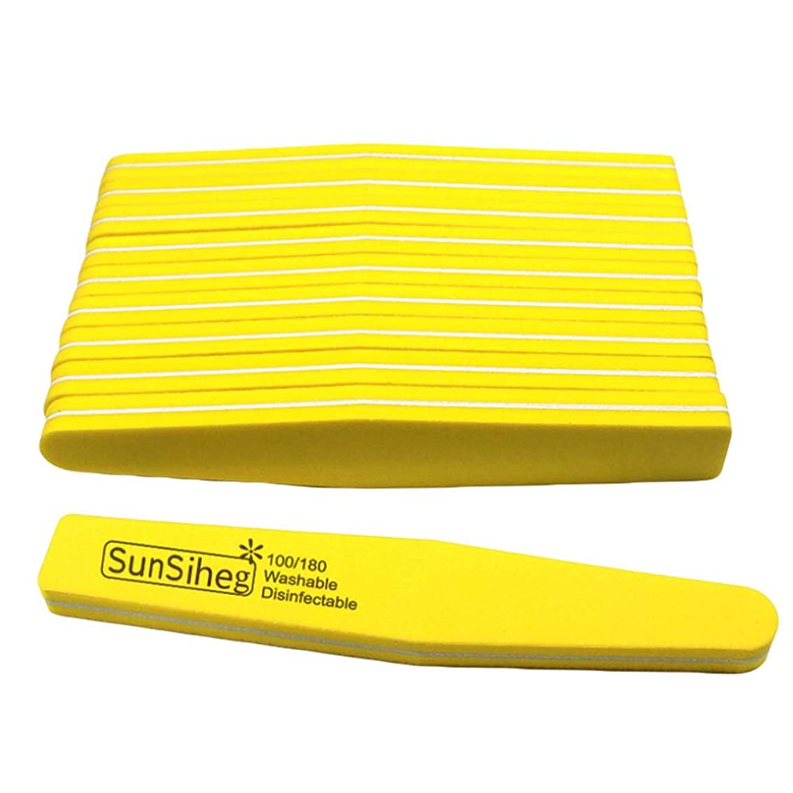 製品暖かさ鋸歯状10個の両面ネイルファイルスポンジネイルファイル