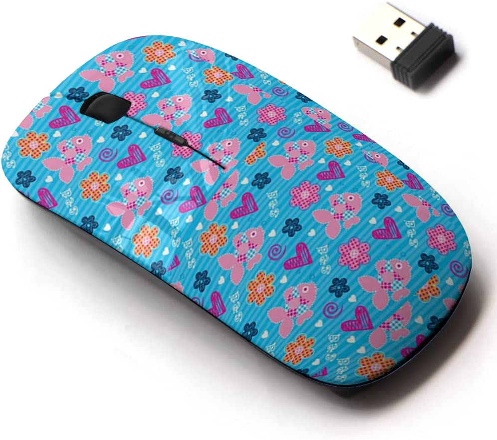2.4G Factory outlet Arlington Mall Wireless Mouse with Cute Pattern and Design for Laptops All