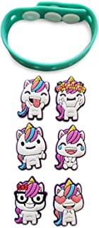 Unicorn Party Favors Bracelet Band- 24 Pack Set of Changeable Unicorn Faces Emotions, Toy Prize Decorations Supplies for Girls