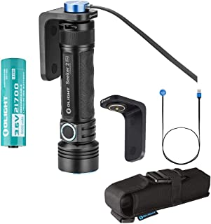 Olight Seeker 2 PRO 3200 Lumens L-Dock Charging ON-THE-GO LED Flashlight Magnetic USB Rechargeable Large Side-switch with Battery Power and Brightness Level Indicator