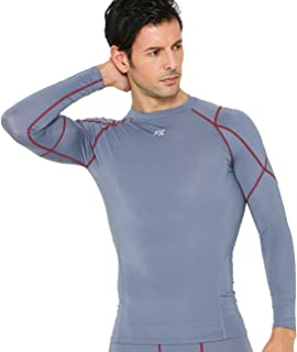 FITEXTREME Mens Sports Light Compression Base Layer Top Long Sleeve