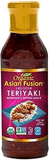 Asian Fusion Sesame Teriyaki Sauce, 15 Ounce - Non-GMO, Organic Certified, Kosher & Gluten Free