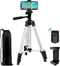 "Phone Tripod,LINKCOOL 42"" Aluminum Lightweight Portable Camera Tripod for iPhone/Samsung/Smartphone/Action Camera/DSLR Cam..."