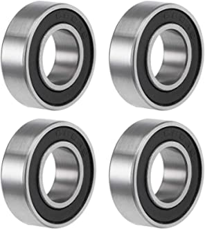 uxcell 6001-2RS Deep Groove Ball Bearings Z2 12mm X 28mm X 8mm Double Shielded Carbon Steel 20pcs