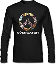 LALAYAY Men's Overwatch OW Logo Long Sleeve T Shirts