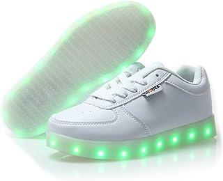 e426b41ed6b64 DoGeek Enfant Basket Lumière Lumineuse - Garçon Fille LED Chaussures- USB  Rechargeable Basket Mode