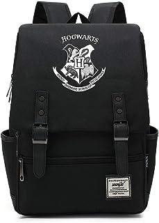Hogwarts Magic Laptop Mochila, Harry College Insignia Mochila, Potter Bolsa de Ocio de Viaje Grande Negro