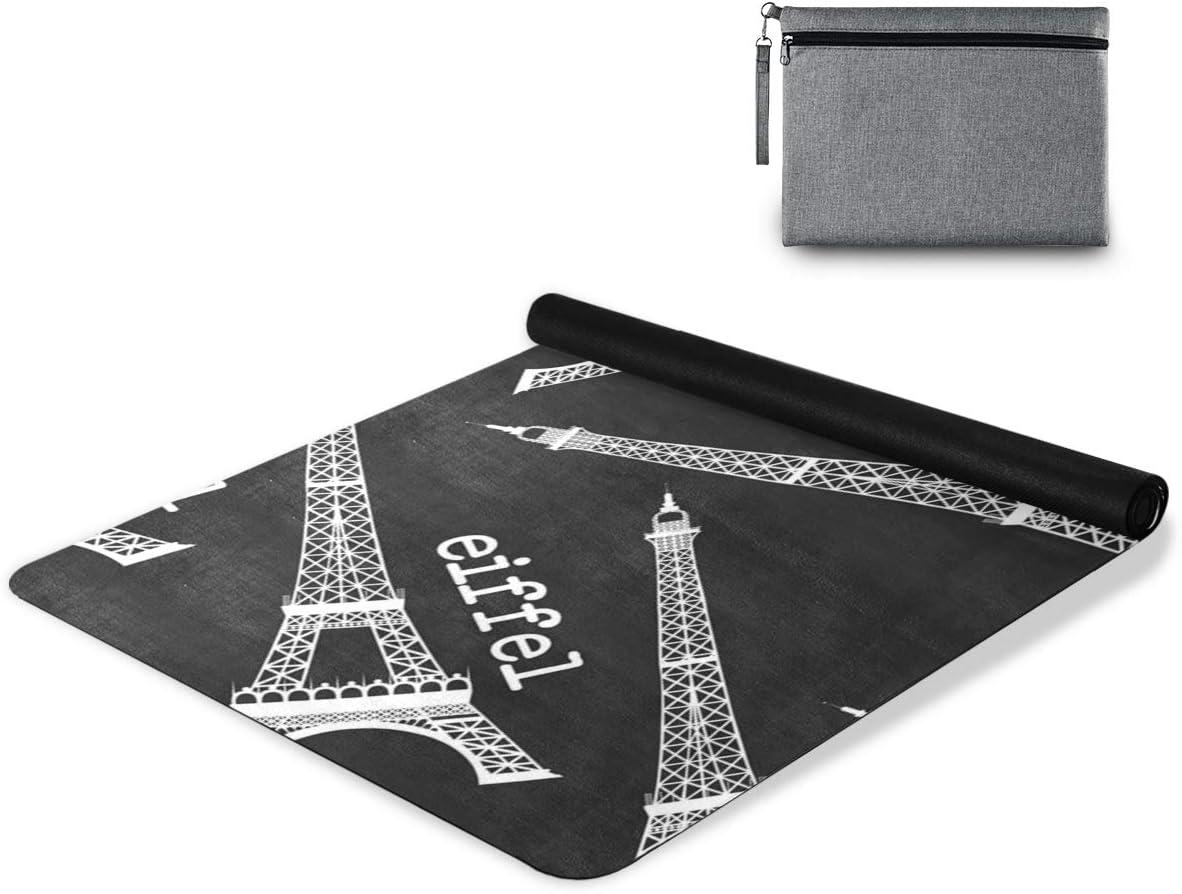 senya Non Slip Yoga Towel Stock Daily bargain sale Direct store Eiffel Tower– Mat Illustrat