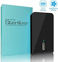 Smart Phone Sanitizer Portable Christmas UV Lights Cell Phone Sanitizer Sterilizer Cleaner Aromatherapy Function Disinfector for All iPhone Android Cellphone Toothbrush-Black
