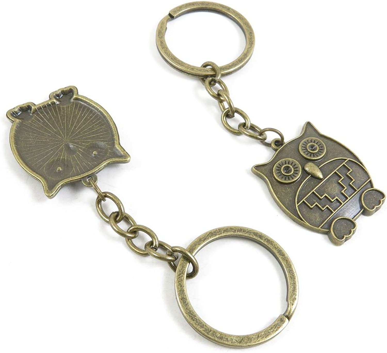 120 Pieces Fashion Jewelry Keyring Keychain Door Car Key Tag Ring Chain Supplier Supply Wholesale Bulk Lots P1YU9 Owl