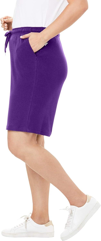Woman Within Women's Plus Size Sport Knit Short