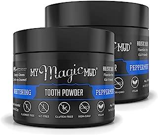 My Magic Mud - Whitening Tooth Powder, Polishing, Brightening, Charcoal, Peppermint, 1.06 oz. (2-Pack)