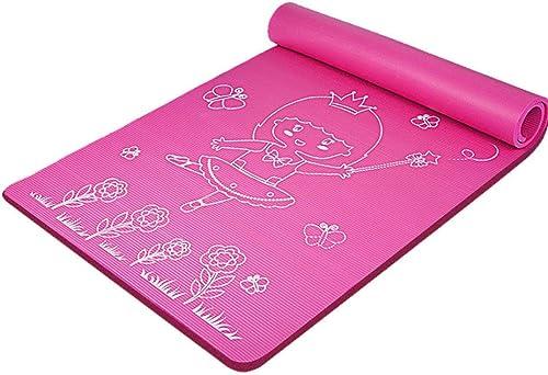 MEIDI Home Tapis de Yoga pour Fille épaissir Les dérapages Tapis de Yoga Tapis de Pratique du Yoga pour Enfants