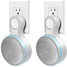 Outlet Wall Mount Holder for Google Home Mini, Plug-in Mount-Protective Case Holder for Outlet Google Home Mini Smart Speaker, Built-in Cable Management,Space-Saving Accessories. (White,2 Pack)