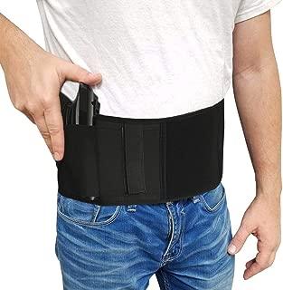 Jaylaka Belly Band Gun Holster Concealed Carry Pistol/Handgun Magazine Pocket G 2 Taurus iWB Glock 17 19 21 22 23 26 36 43,Sig P238 Smith Wesson Bodyguard 380 38,Ruger LCP, LC9,m1911,9mm,M9, etc