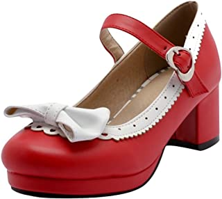 486d9988f319e Amazon.ca: Red - Mary Jane / Pumps & Heels: Shoes & Handbags