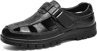 [ONE MAX] ビジネスサンダル メンズ 本革 メッシュ 通気 シューズ ドライビングシューズ 穴 防臭 ローファー スリッポン カジュアル 革靴