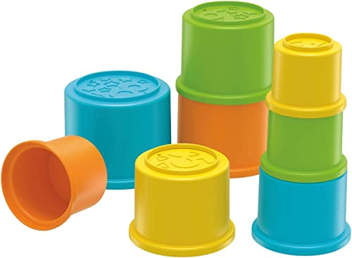 Fisher-Price Stacking Cups, Colourful Stacking Toys, Develops Hand-Eye Coordination