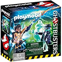 CAZAFANTASMAS Spengler and Ghost Playset de Figuras de Juguete, Multicolor, 6,6 x 14,2 x 14,2 cm (Playmobil 9224)