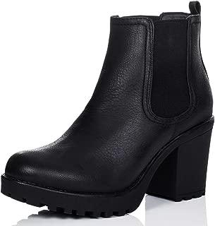 Spylovebuy Yael Women's Cleated Sole Block Heel Chelsea Ankle Boots Pumps