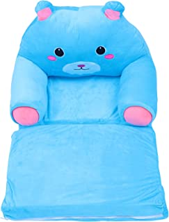 NUOBESTY Plush Kids Sofa Chair Cartoon Backrest Armchair Bear Shaped Infant Support Seat Loungers Baby Learning Sitting So...
