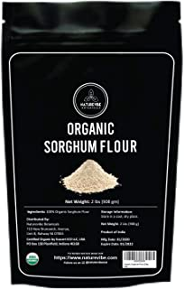 Naturevibe Botanicals Organic Sorghum Flour, 2lbs   Non GMO and Gluten Free (32 ounces)