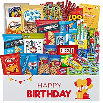 Birthday Gift Basket for Men Women Happy Birthday Gifts for Mom and Dad Friends Birthday Gift for Best Friend Happy Birthday Care Package for College Students for All Ages Fantastic for Party s