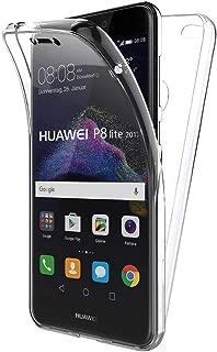 TBOC Funda para Huawei P8 Lite (2017) - Carcasa [Transparente] Completa [Silicona TPU] Doble Cara [360 Grados] Protección Integral Total Delantera Trasera Lateral Móvil Resistente Golpes