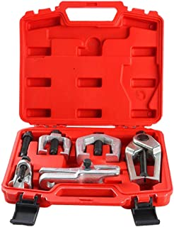 Prokomon 5pc Ball Joint Separator, Pitman Arm Puller, Tie Rod End Tool Set for Front End Service, Splitter Removal Kit